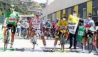 31st August 2020, Nice to Sisteron, France; Tour de France cycling tour, stage 3;   KRISTOFF Alexander (NOR) of UAE TEAM EMIRATES, COSNEFROY Benoit (FRA) of AG2R LA MONDIALE, ALAPHILIPPE Julian (FRA) of DECEUNINCK - QUICK - STEP, HIRSCHI Marc (SUI) of TEAM SUNWEB