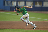 Evan Carter (11) of the Down East Wood Ducks take off for second base during the game against the Kannapolis Cannon Ballers at Atrium Health Ballpark on May 5, 2021 in Kannapolis, North Carolina. (Brian Westerholt/Four Seam Images)