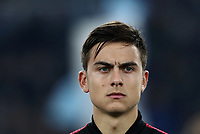 Football, Serie A: S.S. Lazio - Juventus Olympic stadium, Rome, December 7, 2019. <br /> Juventus' Paulo Dybala prior to the Italian Serie A football match between S.S. Lazio and Juventus at Rome's Olympic stadium, Rome on December 7, 2019.<br /> UPDATE IMAGES PRESS/Isabella Bonotto
