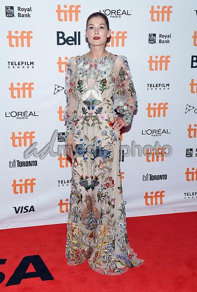 "11 September 2017 - Toronto, Ontario Canada - Rosamund Pike. 2017 Toronto International Film Festival - ""Hostiles"" Premiere held at Princess of Wales Theatre. Photo Credit: Brent Perniac/AdMedia"