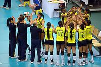 ColombiaREPUBLICA CHECA. 23-06-2013. La selección Colombia sub 20 de voleibol femenino consiguió este domingo su primera victoria en el Campeonato Mundial de la categoría, que se disputa en Brno, República Checa, al derrotar a Tailandia, por 3-0./ Colombian team beated Thailand by score of 3-0 in 2013 Women's Under 20 World Championship Tournament at Brno, Czech Repuiblic. Photo: VizzorImage / FIVB/ COURTESY/ NO SALES/ EDITORIAL USE ONLY