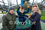Enjoying the playground in the Tralee town park on Saturday, l to r: Brian, Patrick and Inga Hobbert