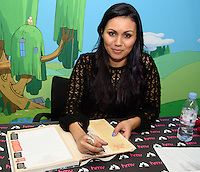 """Olivia Olson (Marceline the Vampire Queen)<br /> performs live and sign copies of the book """"Adventure Time - The Enchiridion & Marcy's Super Secret Scrap Book"""" at HMV, 363 Oxford Street, London<br /> <br /> <br /> ©Ash Knotek  D3097 10/03/2016"""