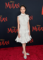 """LOS ANGELES, CA: 09, 2020: Crystal Rao at the world premiere of Disney's """"Mulan"""" at the El Capitan Theatre.<br /> Picture: Paul Smith/Featureflash"""