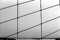 The Statue of Liberty, seen from the Brooklyn Bridge. To the left of the statue are the docks of Bayonne, New Jersey. The docks of New York and New Jersey have for generations been synonymous with organised crime, with the Genovese family in control of the New Jersey waterfront and the Gambinos in control of the New York side.
