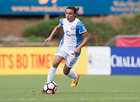 Cary, NC - April 29, 2017: The North Carolina Courage defeated the Orlando Pride 3-1 during a National Women's Soccer League (NWSL) match at Sahlen's Stadium.