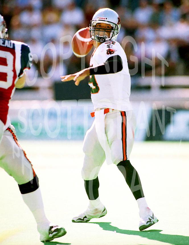 Damon Allen BC Lions quarterback. Photo F. Scott Grant