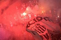 SANTOS,SP, 26.07.2017 - SANTOS-FLAMENGO – Ônibus do Santos chega para a partida contra o Flamengo, jogo válido pelas quartas de final da Copa do Brasil 2017, disputada no estádio da Vila Belmiro em Santos, na noite desta quarta-feira, 26. (Foto: Levi Bianco/Brazil Photo Press)