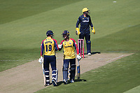 Michael Pepper and Will Buttleman enjoy a useful partnership for Essex during Glamorgan vs Essex Eagles, Vitality Blast T20 Cricket at the Sophia Gardens Cardiff on 13th June 2021
