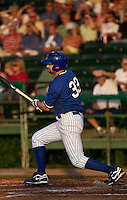 April 22 2010: Matthew Spencer (33) of the Daytona Beach Cubs during a game vs. the Tampa Yankees at Jackie Robinson Ballpark in Daytona Beach, Florida. Daytona, the Florida State League High-A affiliate of the Chicago Cubs, won the game against Tampa, affiliate of the New York Yankees, by the score of 9-6.  Photo By Scott Jontes/Four Seam Images