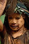 Dani tribeswoman in mourning, Papua, Indonesia
