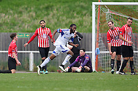 Shameek Farrell celebrates scoring the second goal for Billericay - AFC Hornchurch vs Billericay Town - Ryman League Premier Division Football at The Stadium, Bridge Avenue - 06/04/15 - MANDATORY CREDIT: Gavin Ellis/TGSPHOTO - Self billing applies where appropriate - contact@tgsphoto.co.uk - NO UNPAID USE