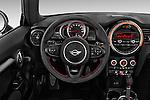 Car pictures of steering wheel view of a2015 MINI Mini John Cooper Works 3 Door Hatchback Steering Wheel