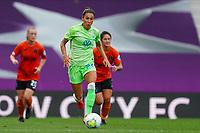 21st August 2020, San Sebastian, Spain;  Sara Doorsoun-Khajeh Wolfsburg on the ball going forward during the UEFA Womens Champions League football match Quarter Final between Glasgow City and VfL Wolfsburg.
