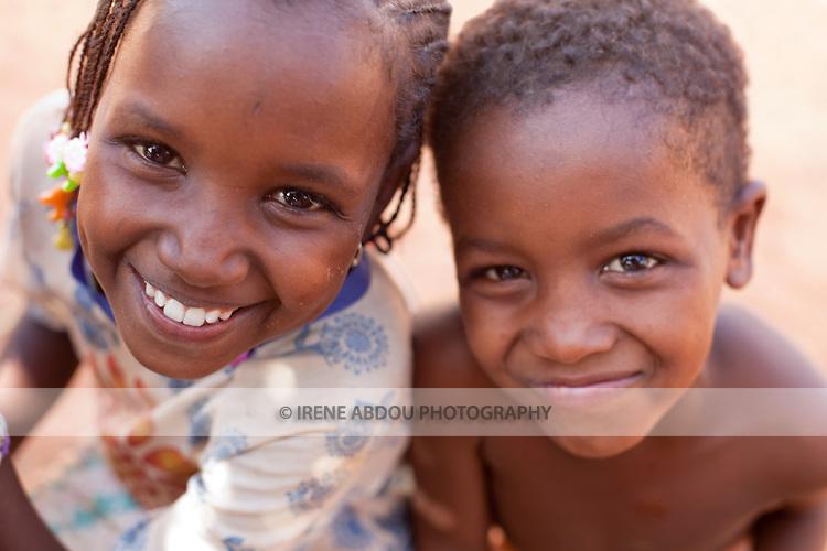 Two Fulani children in Djibo in northern Burkina Faso.
