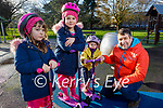 Enjoying the playground in the Tralee Town Park on Sunday, l to r: Sophie, Sally, Stella and Isa Alkenany.