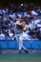 Jose Hernandez of the Atlanta Braves during a game against the Los Angeles Dodgers at Dodger Stadium circa 1999 in Los Angeles, California. (Larry Goren/Four Seam Images)
