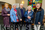 Bobs Barry, Helen Leen, John Carmody, Peggy Harris (Nee Nolan) and Kathleen Galvin enjoying the Abbeydorney/Kilflynn Active Retirement Christmas party in the Ballyroe Heights Hotel on Sunday.