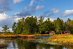 Fishtrap lake on a beautiful autumn day in northern Wisconsin.
