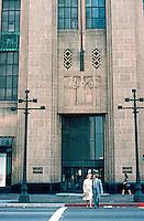 Los Angeles: Bullock's --entrance.  Photo '82.
