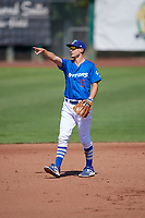 Kevin Lachance (5) of the Ogden Raptors during the game against the Idaho Falls Chukars in Pioneer League action at Lindquist Field on July 2, 2017 in Ogden, Utah. Ogden defeated Idaho Falls 6-5. (Stephen Smith/Four Seam Images)