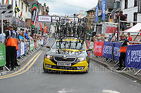 "One of the emergency replacement cycle vehicles during the Abergavenny Festival of Cycling ""Grand Prix of Wales"" race on Sunday 17th 2016<br /> <br /> <br /> Jeff Thomas Photography -  www.jaypics.photoshelter.com - <br /> e-mail swansea1001@hotmail.co.uk -<br /> Mob: 07837 386244 -"