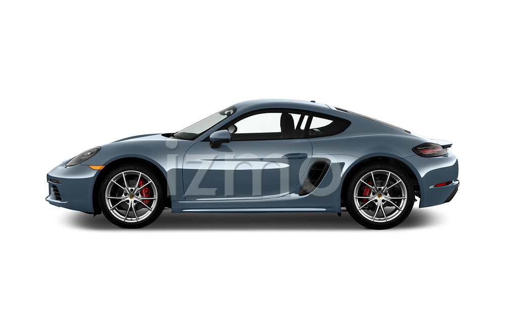 Car driver side profile view of a 2017 Porsche 718 Cayman S 3 Door Coupe