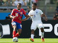 Daniel Sturridge of England and Junior Diaz of Costa Rica
