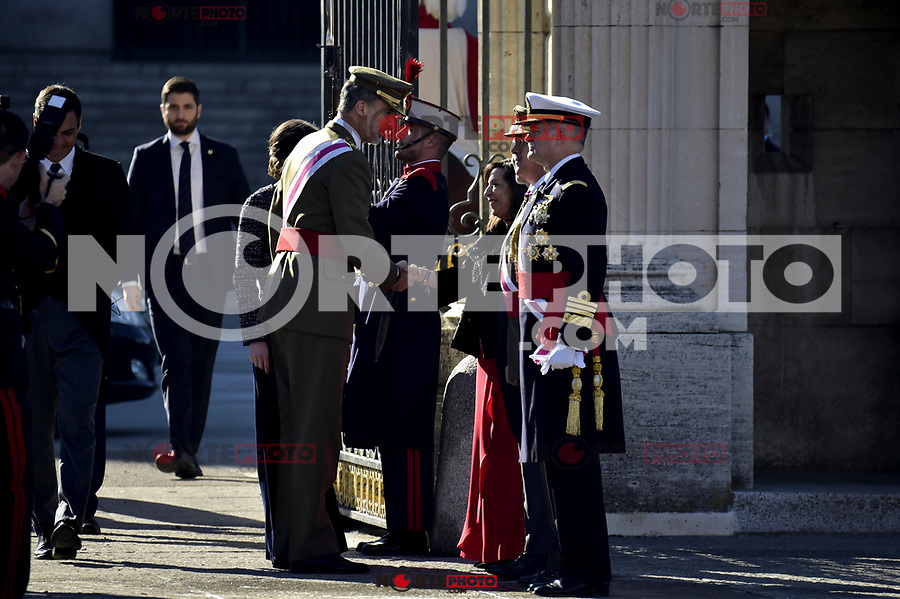 King Felipe VI of Spain and Margarita Robles attends to Pascua Militar at Royal Palace in Madrid, Spain. January 06, 2019. (ALTERPHOTOS/Pool) /NortePhoto.com