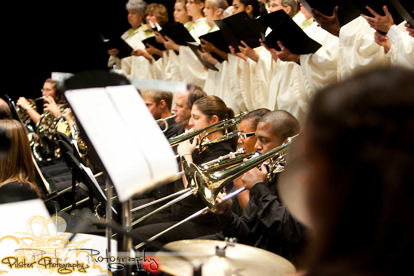 The Museum of Florida Art and the Legendary Florida Society present A Historic Portrait in Sound on Saturday, September 18, 2010 at the Athens Theater in DeLand, Florida. The music was based off of Legendary Florida, Florida History Paintings by Jackson Walker. Before the performance a gala took place at the Historic Volusia County Courthouse where Walker's paintings  are hanging. It was composed by Robert Kerr and conducted by Dr. Monte Musgrave. (Chad Pilster, PilsterPhotography.net for the Museum of Florida Art)