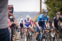 Alejandro Valverde (ESP/Movistar) up the steep Côte de Gives<br /> <br /> 85th La Flèche Wallonne 2021 (1.UWT)<br /> 1 day race from Charleroi to the Mur de Huy (BEL): 194km<br /> <br /> ©kramon
