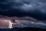 Lightning storm, Benin<br /> <br /> Canon EOS-1Ds Mark II, 70.0-200.0 mm f/4 lens, f/5.6 for 3.2 seconds, ISO 400