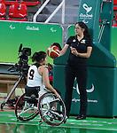 Amanda Yan, Rio 2016 - Wheelchair Basketball // Basketball en fauteuil roulant.<br /> Canada vs. China in women's Wheelchair Basketball  // Le Canada contre la Chine en  basketball en fauteuil roulant féminin . 16/09/2016.