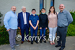 Jack Delaney and Jack Lawlor from Holy Family NS receiving their Confirmation in St Brendan's Church on Tuesday, l to r: Fergal Barrett, Gerry McClonney, Jack Delaney, Jack Lawlor, Elaine Lawlor and Ed Delaney.