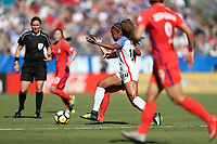 Cary, NC - Sunday October 22, 2017: Casey Short during an International friendly match between the Women's National teams of the United States (USA) and South Korea (KOR) at Sahlen's Stadium at WakeMed Soccer Park. The U.S. won the game 6-0.