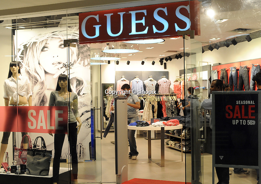 Guess shop at Express Avenue shopping mall in Madras, India