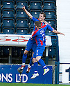 CALEY'S ANDREW SHINNIE CELEBRATES AFTER HE SCORES INVERNESS' FIRST GOAL.