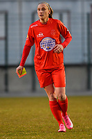 Clotilde Codden (23) of Woluwe pictured during a female soccer game between FC Femina White Star Woluwe and Sporting Charleroi on the 2nd matchday of Play off 2 in  the 2020 - 2021 season of Belgian Scooore Womens Super League , friday 16 th of April 2021  in Woluwe , Belgium . PHOTO SPORTPIX.BE   SPP   STIJN AUDOOREN