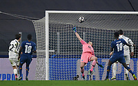 Football Soccer: UEFA Champions League -Round of 16 2nd leg Juventus vs FC Porto, Allianz Stadium. Turin, Italy, March 9, 2021.<br /> Juventus' Federico Chiesa (L) scores his second goal in the match during the Uefa Champions League football soccer match between Juventus and Porto at Allianz Stadium in Turin, on March 9, 2021.<br /> UPDATE IMAGES PRESS/Isabella Bonotto