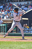 Jeff McNeil (1) of the Binghamton Rumble Ponies bats during a game against the Hartford Yard Goats at Dunkin Donuts Park on May 9, 2018 in Hartford, Connecticut.<br /> (Gregory Vasil/Four Seam Images)
