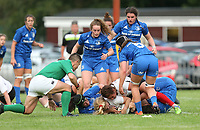 24 August 2019; Neve Jones scores during the Women's Interprovincial Championship match between Ulster and Leinster at Armagh RFC in Armagh. Photo by John Dickson / DICKSONDIGITAL