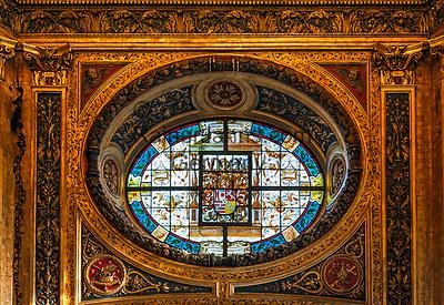 Deutschland, Nordrhein-Westfalen, Kevelaer: Gnadenkapelle - Fenster   Germany, Northrhine-Westphalia, Kevelaer: Chapel of Mercy - window