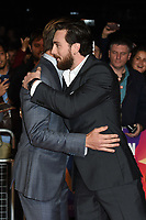 """Chris Pine and Aaron Taylor Johnson<br /> arriving for the London Film Festival screening of """"Outlaw King"""" at the Cineworld Leicester Square, London<br /> <br /> ©Ash Knotek  D3446  17/10/2018"""