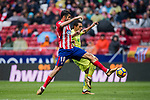 Diego Costa (L) of Atletico de Madrid fights for the ball with Damian Nicolas Suarez Suarez of Getafe CF during the La Liga 2017-18 match between Atletico de Madrid and Getafe CF at Wanda Metropolitano on January 06 2018 in Madrid, Spain. Photo by Diego Gonzalez / Power Sport Images