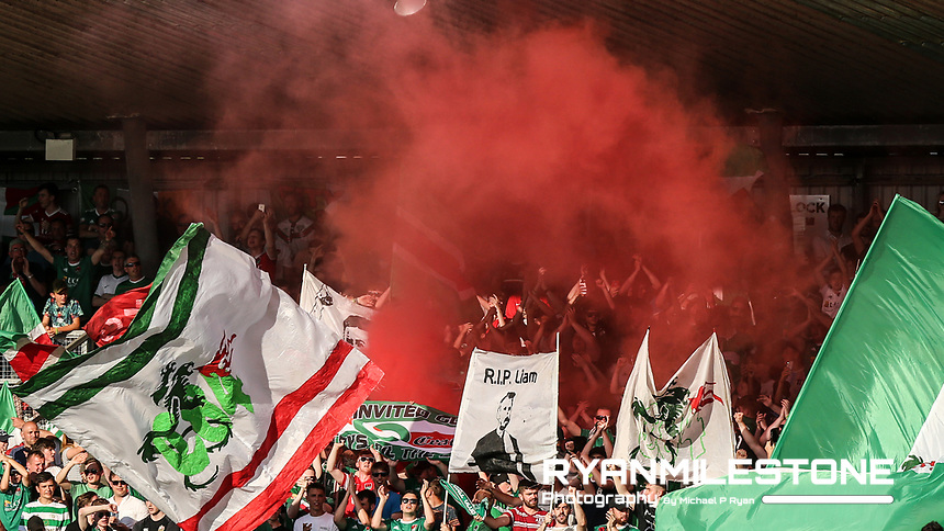 Cork City fans ahead of the UEFA Champions League First Qualifying Round First Leg between Cork City and Legia Warsaw on Tuesday 10th July 2018 at Turners Cross, Cork. Photo By Michael P Ryan