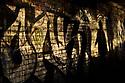 London, UK. 09.10.2021. Graffiti on the walls alongside the Regent's Canal, near Camden, London. Photograph © Jane Hobson.