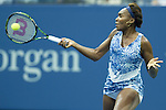 Venus Williams (USA) goes ahead in the first set against Irina Falconi (USA)  5-3 at the US Open in Flushing, NY on September 2, 2015.