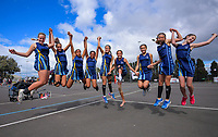 Sancta Maria College netball team. Day six of the 2019 AIMS games at Blake Park in Mount Maunganui, New Zealand on Friday, 13 September 2019. Photo: Dave Lintott / lintottphoto.co.nz
