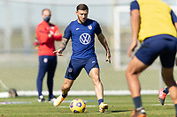 BRADENTON, FL - JANUARY 19: Paul Arriola passes the ball during a training session at IMG Academy on January 19, 2021 in Bradenton, Florida.