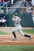 August 6, 2010: Boise Hawks' Dustin Harrington (#5) at-bat during a Northwest League game against the Everett AquaSox at Everett Memorial Stadium in Everett, Washington.